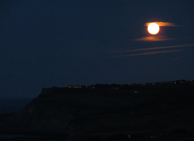 Full Moon over Ravenscar from Skerry Hall Farm
